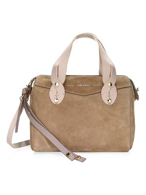 JIMMY CHOO Allie Sue Suede Bowling Bag