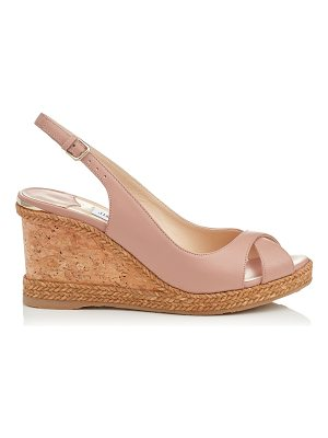 Jimmy Choo AMELY 80 Ballet Pink Nappa Leather Slingback Wedges