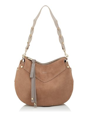 Jimmy Choo ARTIE Light Mocha Suede Shoulder Bag