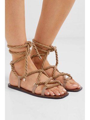 Jimmy Choo aziza rope and glossed-leather sandals