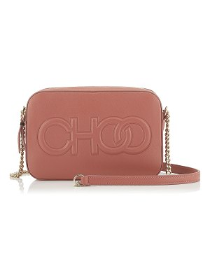 Jimmy Choo BALTI Rosewood Nappa Leather Embossed Choo Logo Mini Bag