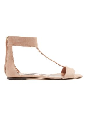 Jimmy Choo Bethel T Bar Zip Back Suede Sandals