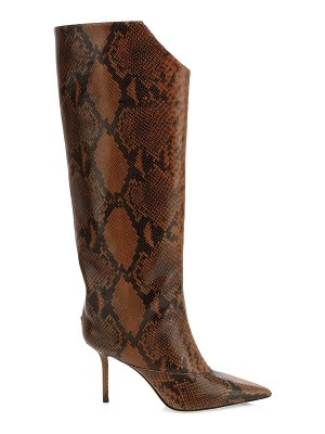 Jimmy Choo brelan tall snake-embossed leather boots