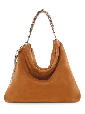 Jimmy Choo callie tassel suede hobo bag