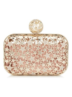 Jimmy Choo CLOUD Gold Metal Star Cage Clutch Bag with Crystals