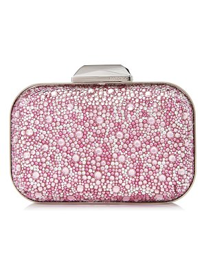 Jimmy Choo CLOUD Rose Mix Suede and Crystal Covered Clutch Bag