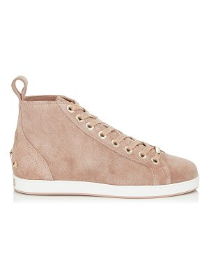 Jimmy Choo COLT/F Ballet Pink Velvet Suede High Top Trainers