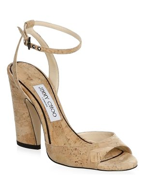 JIMMY CHOO Cork Heel Sandals