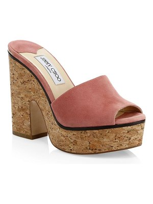 Jimmy Choo deedee cork platform sandals