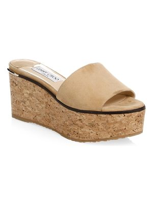 Jimmy Choo deedee suede cork wedges