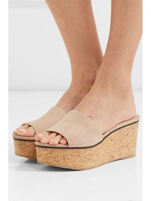Jimmy Choo deedee suede wedge mules