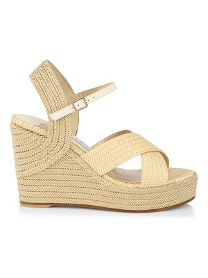 Jimmy Choo dellena espadrille platform wedge sandals