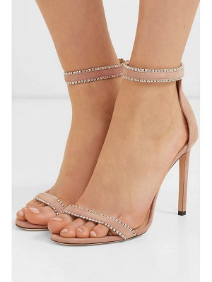 Jimmy Choo dochas 100 crystal-embellished suede sandals