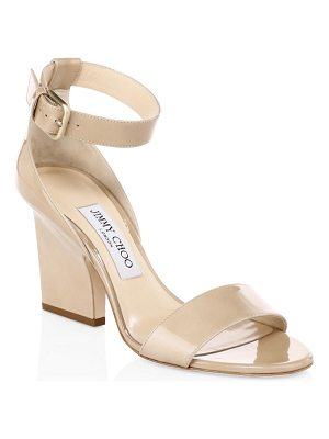 Jimmy Choo edina patent leather slingback sandals