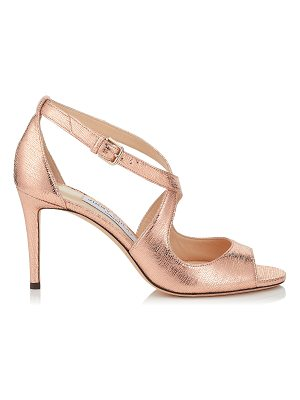 Jimmy Choo EMILY 85 Metallic Printed Leather Sandals