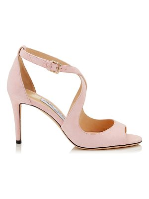 JIMMY CHOO Emily 85 Rosewater Suede Sandals
