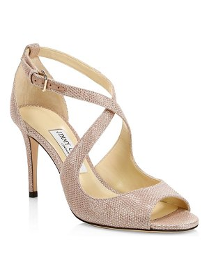 Jimmy Choo emily 85 shimmer suede sandals