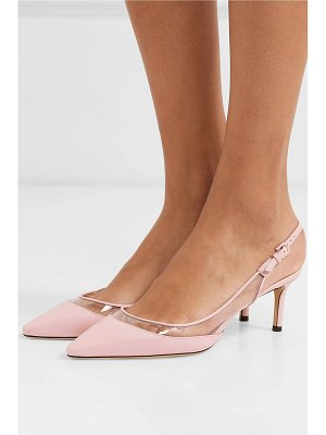 Jimmy Choo erin 60 pvc and leather slingback pumps