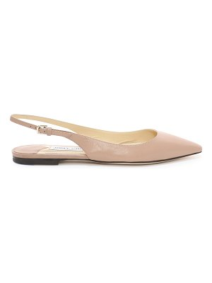 Jimmy Choo ERIN FLAT Ballet Pink Kid Leather Slingback Flats