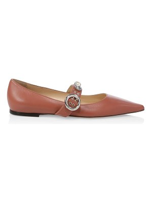 Jimmy Choo gela point-toe leather mary jane flats