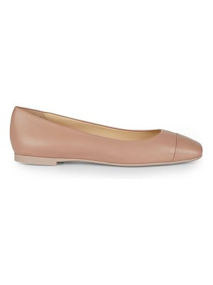 Jimmy Choo gloris square-toe leather ballet flats
