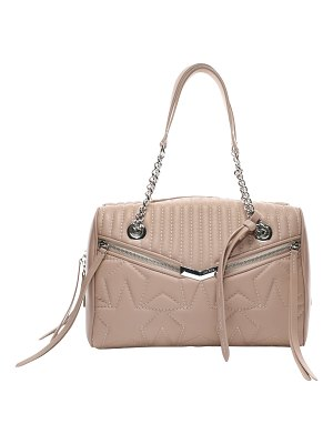 Jimmy Choo HELIA BOWLING Ballet Pink Leather Bag with Star Matelassé