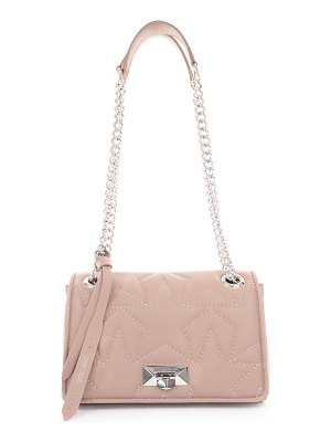 Jimmy Choo HELIA SHOULDER BAG/S Ballet Pink Shoulder Bag with Chain Srap