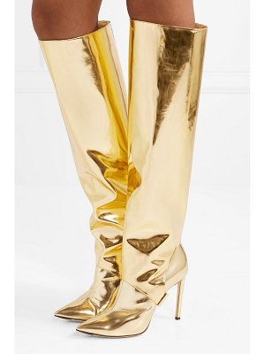 Jimmy Choo hurley 100 convertible metallic mirrored-leather knee boots
