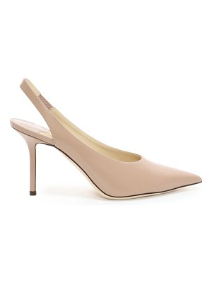 Jimmy Choo IVY 85 Ballet Pink Liquid Leather Slingback Heel