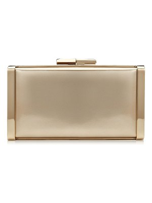 Jimmy Choo J BOX Gold Liquid Mirror Leather Clutch Bag