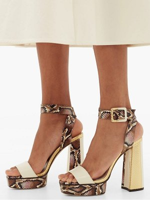 Jimmy Choo jax 125 elaphe platform sandals