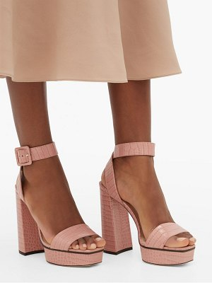 Jimmy Choo jax crocodile-effect leather platform sandals