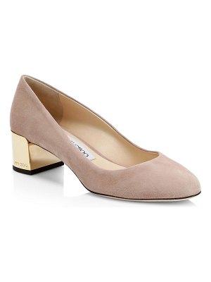 Jimmy Choo jessie goldtone block heel pumps