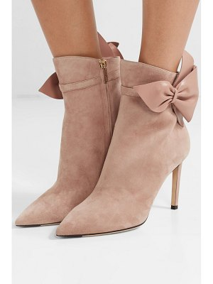 Jimmy Choo kassidy 85 leather-trimmed suede ankle boots