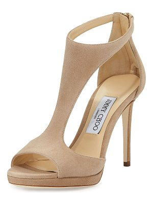 Jimmy Choo Lana Suede T-Strap 100mm Sandals