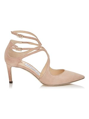 Jimmy Choo LANCER 65 Ballet Pink Suede Pointy Toe Pumps