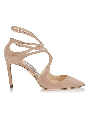 Jimmy Choo LANCER 85 Ballet Pink Suede Pointy Toe Pumps