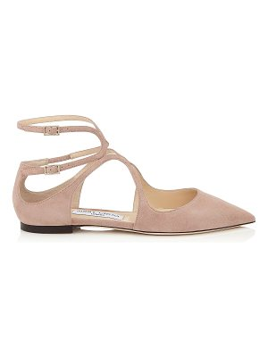 Jimmy Choo LANCER FLAT Ballet Pink Suede Pointy Toe Flats