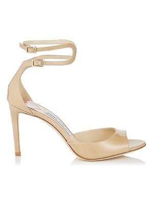 Jimmy Choo LANE 85 Nude Patent Leather Sandals