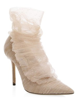 Jimmy Choo lavish point toe tulle booties