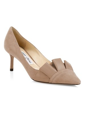 Jimmy Choo leena ruffled point toe pumps