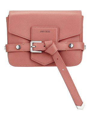 Jimmy Choo LEXIE/S Rosewood Soft Grained Calf Leather Cross Body Bag