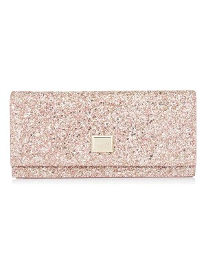 Jimmy Choo LILIA Rosewood Painted Glitter Fabric Mini Bag