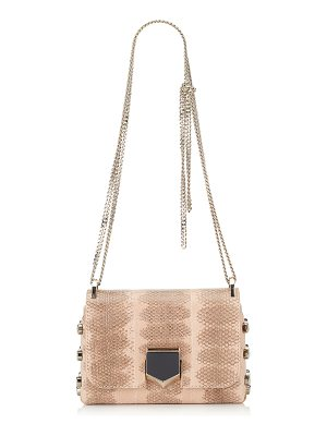 JIMMY CHOO Lockett Mini Ballet Pink Hardwick Snake Shoulder Bag