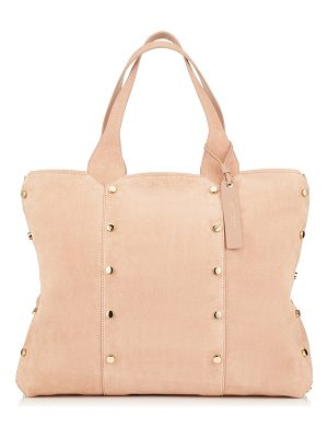 Jimmy Choo LOCKETT SHOPPER Ballet Pink Suede Tote Bag