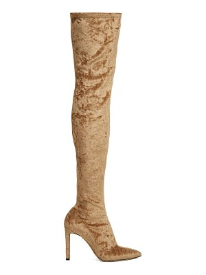 Jimmy Choo Lorraine velvet over-the-knee boots