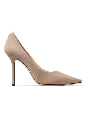 Jimmy Choo LOVE 100 Ballet Pink Suede Pointy Toe Pumps with Button