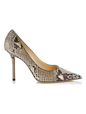 Jimmy Choo LOVE 100 Natural Python Pointy Toe Pump
