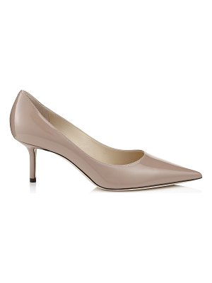 Jimmy Choo LOVE 65 Ballet Pink Patent Leather Pointy Toe Pumps