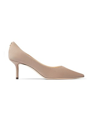 Jimmy Choo LOVE 65 Ballet Pink Suede Pointy Toe Pumps with JC Button